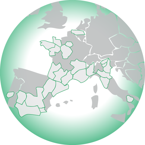 Carte des rgions europennes
