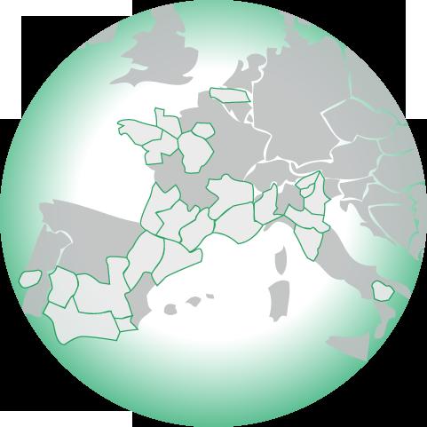 Carte des régions européennes